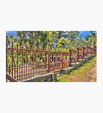 Gateway to the Eltham Cemetery Photographic Print