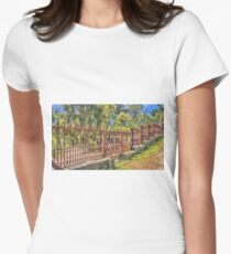 Gateway to the Eltham Cemetery Women's Fitted T-Shirt