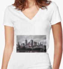 Gotham by the Yarra Women's Fitted V-Neck T-Shirt
