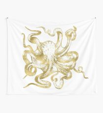 Gold Octopus Wall Tapestry