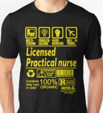 LICENSED PRACTICAL NURSE SOLVE PROBLEMS DESIGN Slim Fit T-Shirt