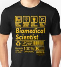 BIOMEDICAL SCIENTIST SOLVE PROBLEMS DESIGN T-Shirt