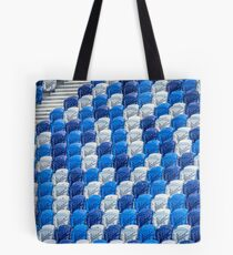 Empty Stands for Swimming Training Tote Bag