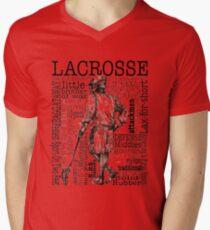 LACROSSE Men's V-Neck T-Shirt