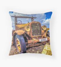 Dodge on the Rocks Throw Pillow