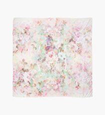 Pink watercolor vintage flowers pattern Scarf