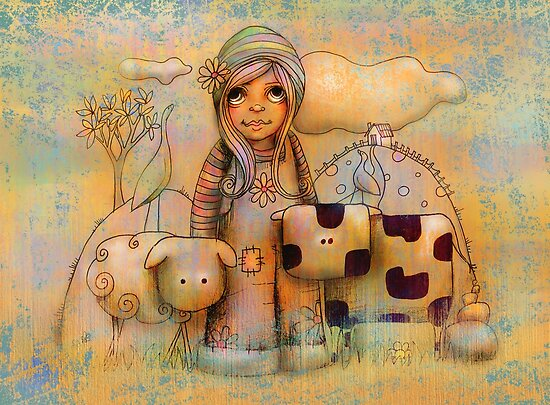Mary had a little cow by Karin Taylor