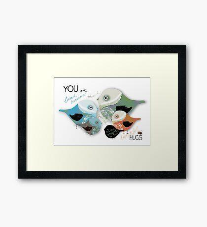 You are Loved Affirmation Framed Print