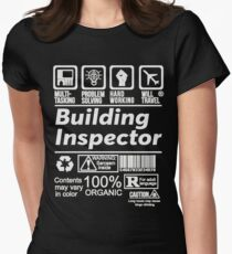 BUILDING INSPECTOR SOLVE PROBLEMS DESIGN Women's Fitted T-Shirt