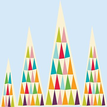 Geometric Multicolor Triangle by MyArt23