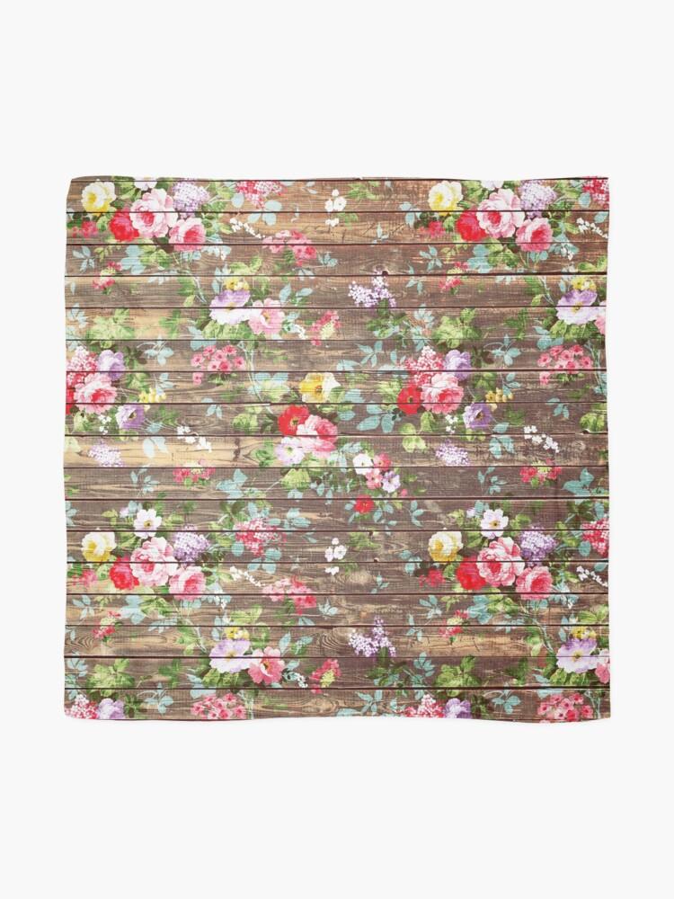 Alternative Ansicht von Blumen-rustikales braunes Holz der eleganten rosa Rosen Tuch