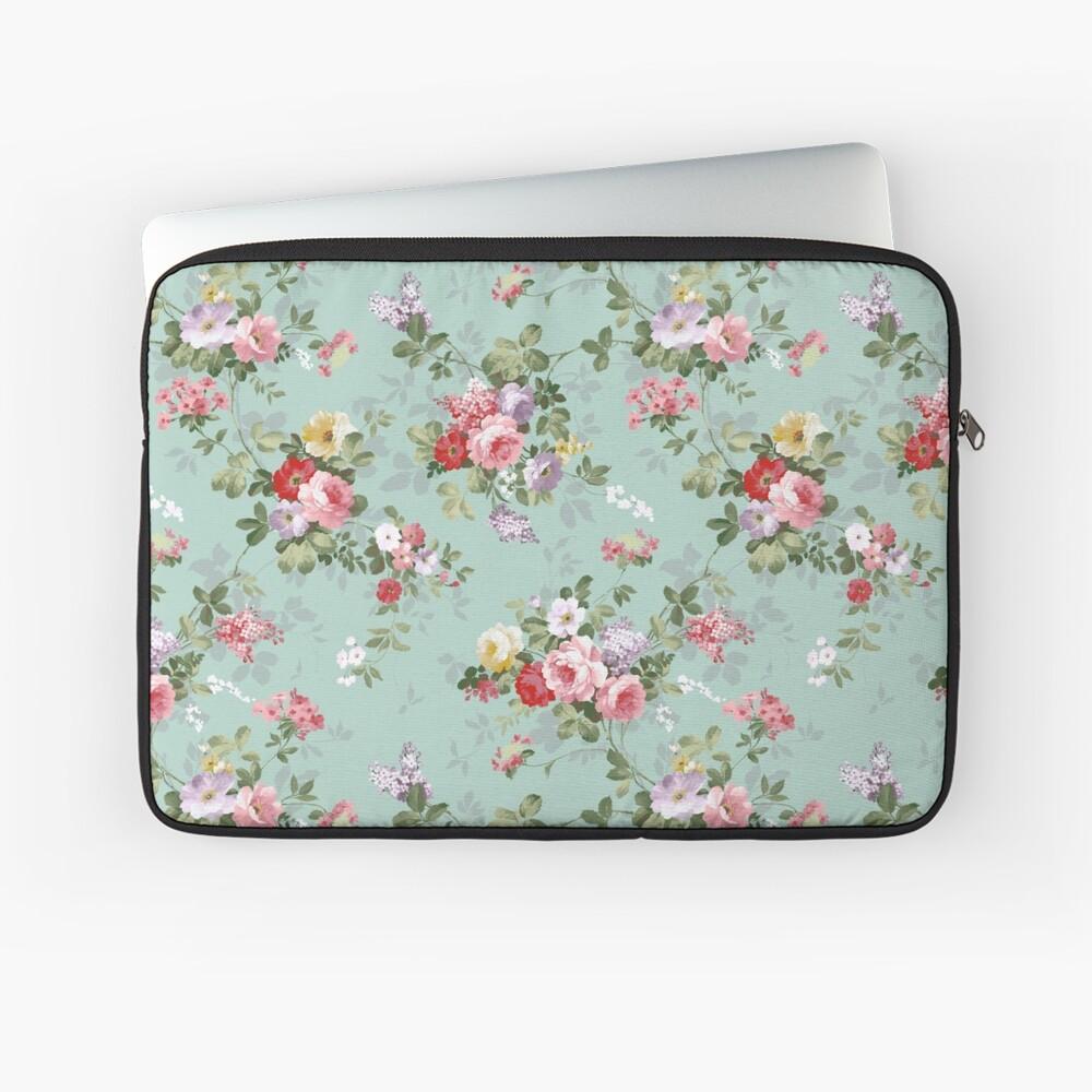 Elegantes rosa Blumenmuster der schönen Rosen Laptoptasche
