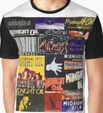 midnight oil fonts through the years Graphic T-Shirt