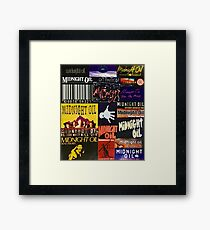 midnight oil fonts through the years Framed Print