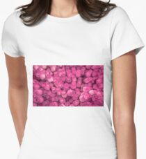 Dozens of Miniature Pink Roses Women's Fitted T-Shirt