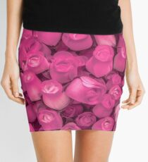 Dozens of Miniature Pink Roses Mini Skirt