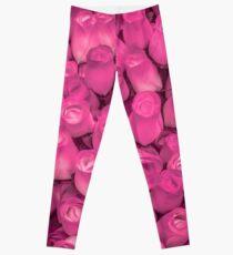 Dozens of Miniature Pink Roses Leggings