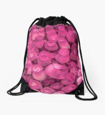 Dozens of Miniature Pink Roses Drawstring Bag