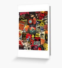 midnight oil wall 2 Greeting Card