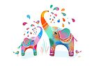 Elephant Shower by Karin Taylor
