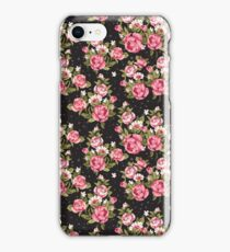 Shabby Chic Pink And White Roses iPhone Case/Skin