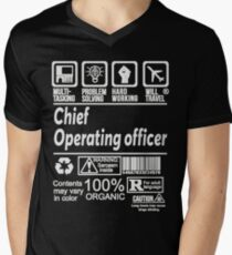 CHIEF OPERATING OFFICER SOLVE PROBLEMS DESIGN Men's V-Neck T-Shirt