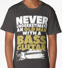 Old Man With A Bass Guitar Long T-Shirt