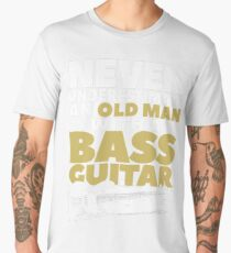 Old Man With A Bass Guitar Men's Premium T-Shirt