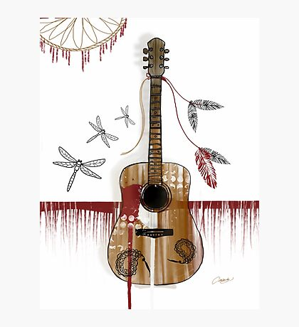 Folk Guitar Photographic Print