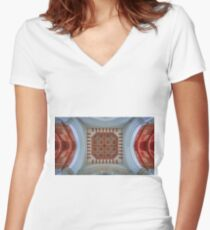The Cathedral Ceiling Women's Fitted V-Neck T-Shirt