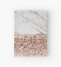 Warm chromatic - rose gold marble Hardcover Journal