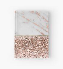 Cuaderno de tapa dura Cálido cálido - mármol de oro rosa