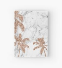 Rose gold marble palms Hardcover Journal