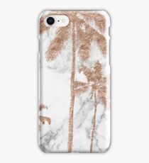 Rose gold marble palms iPhone Case/Skin