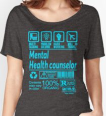 MENTAL HEALTH COUNSELOR SOLVE PROBLEMS DESIGN Women's Relaxed Fit T-Shirt