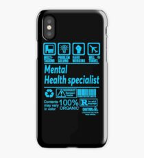 MENTAL HEALTH SPECIALIST SOLVE PROBLEMS DESIGN iPhone Case
