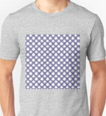 Girly Modern Blue White Retro Scallop Pattern Unisex T-Shirt