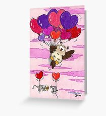 HEART BALLOONS greeting card by Nicole Janes Greeting Card