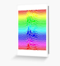 CP 1919 - Joy Division Unknown Pleasures: Visible Spectrum Greeting Card