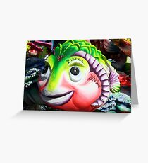 The carnival fish Greeting Card
