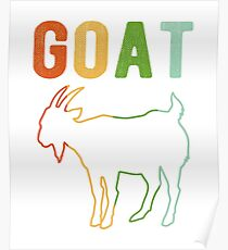 Vintage Style Goat Classic Retro Distressed Color Poster