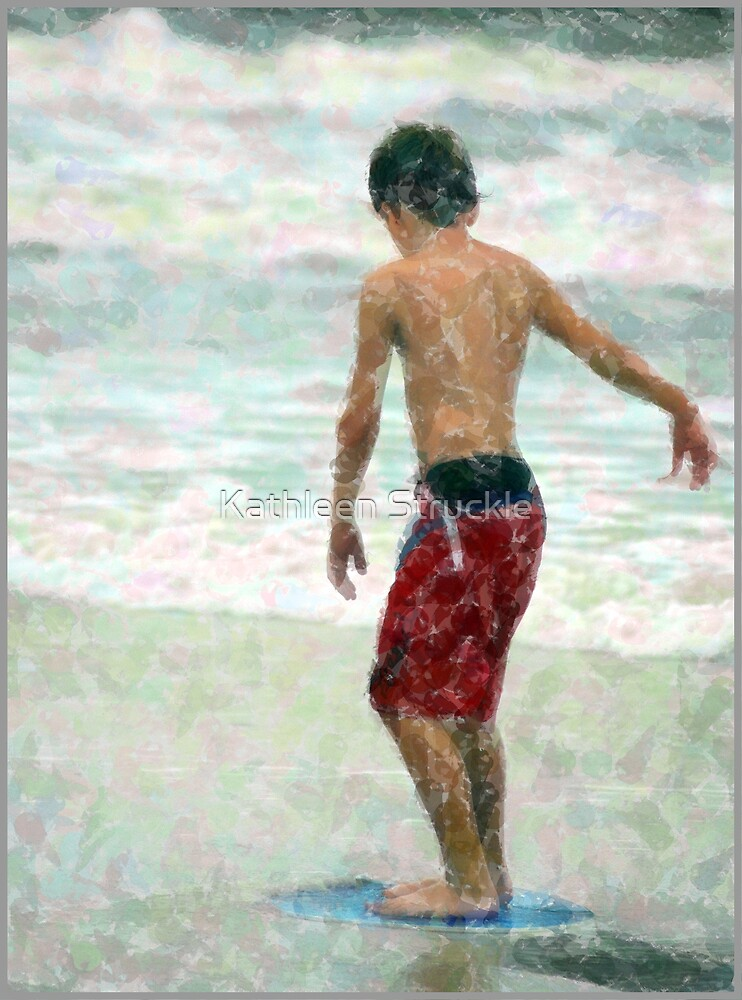 Boy At The Shore by Kathleen Struckle