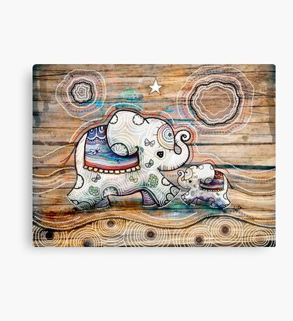 Lucky Star Elephants Canvas Print
