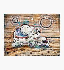 Lucky Star Elephants Photographic Print