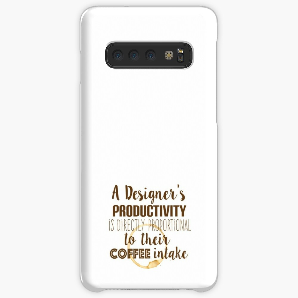 Design and coffee are directly proportional Case & Skin for Samsung Galaxy