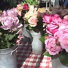 Roses at the Market by Christine  Wilson