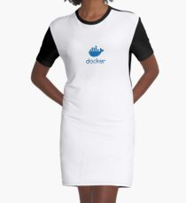 Docker Flat Logo - Docker Moby Graphic T-Shirt Dress
