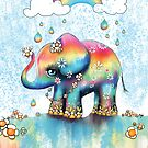 Little Rainbow Elephant by Karin Taylor