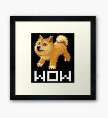Pixel Doge Wow Framed Print