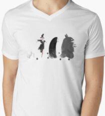 Camiseta para hombre de cuello en v Ghibli Road